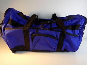 Details About Large Blue 5 Compartment Tournamax Nylon Duffle Bag 22 X14 X 11 Gym