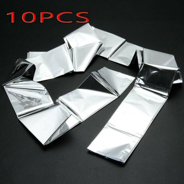 2 x Foil Thermal Emergency Blanket First Aid Survival Rescue Waterproof Hiking