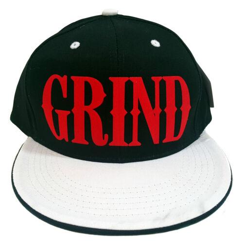 GRIND BLACK//WHITE FLOCK Snapback Cap