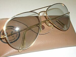 ae244a50dc161 1960 s 62 14mm VINTAGE B L RAY BAN GRAY PHOTOCHROMIC AVIATOR ...