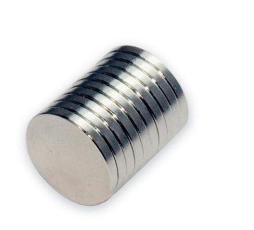 10 x forte disque circulaire aimant de Néodyme 10mm x 1mm Réfrigérateur