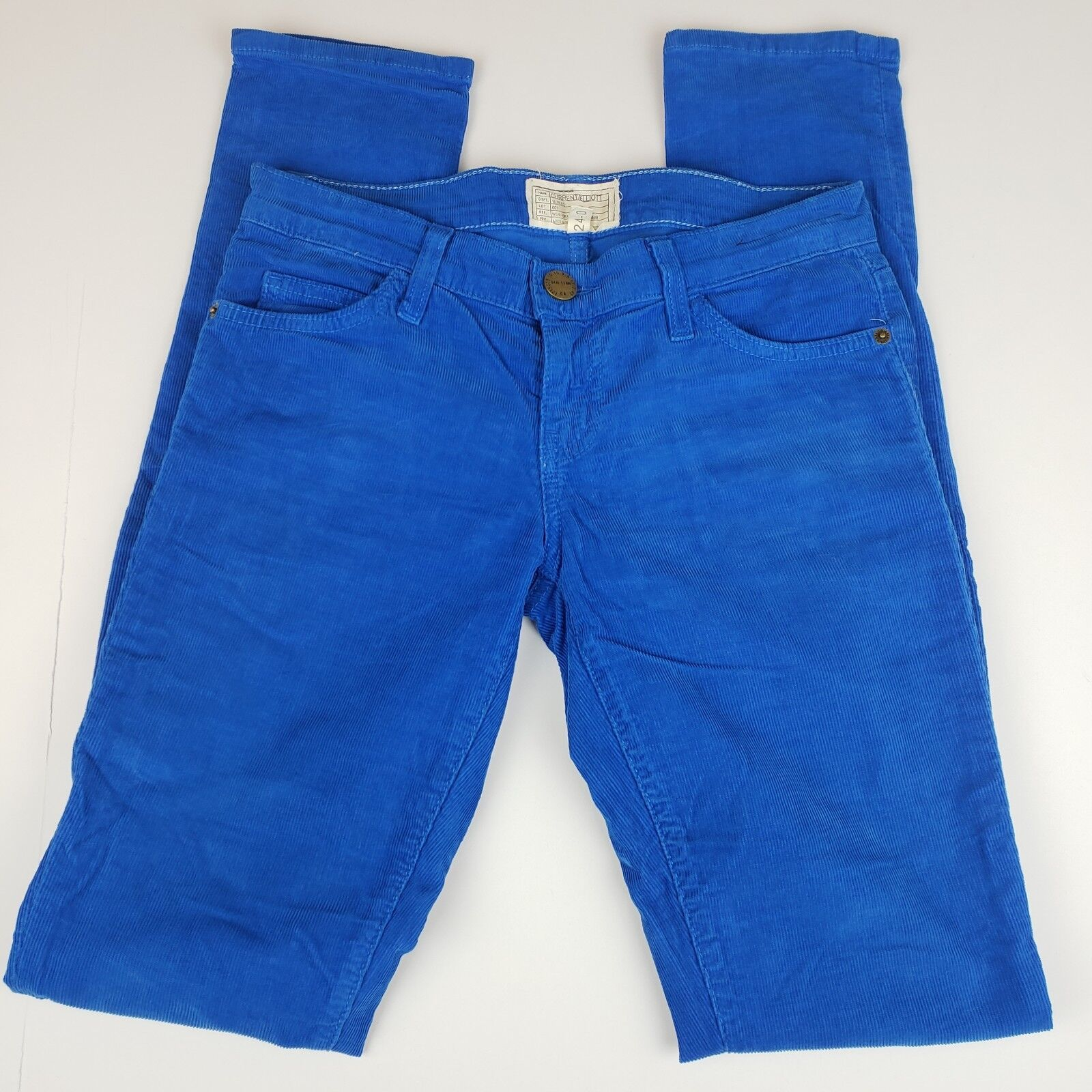 Current   Elliott Women's 24 - 0 The Skinny Electric bluee Corduroy Pants