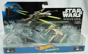 Star-Wars-Rogue-One-Tie-Striker-X-Wing-Fighter-Hot-Wheels-Starships-Astronave