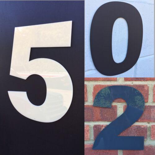 LARGE MODERN HOUSE NUMBERS 250MM DOOR NUMBERS CREAM BROWN DARK GREY LARGE NUMBER