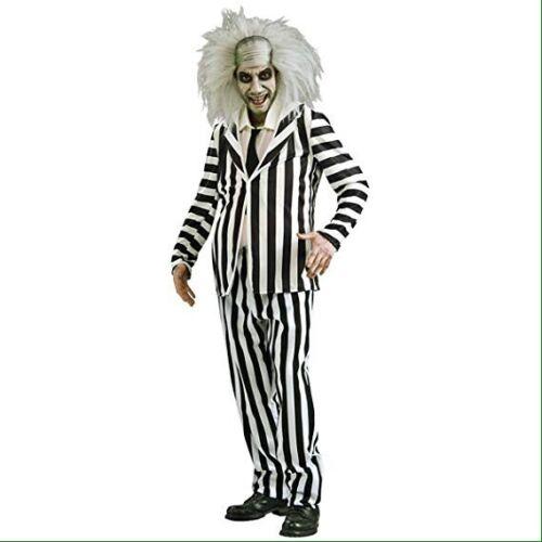 Homme Officiel Beetlejuice Rubis Halloween Costume Veste Pantalon Dickie Med.