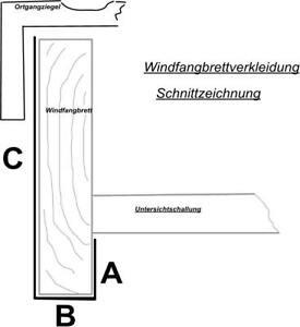 1 50 m windfangbrett windfeder verkleidung u form alu natur und alu farbig ebay. Black Bedroom Furniture Sets. Home Design Ideas