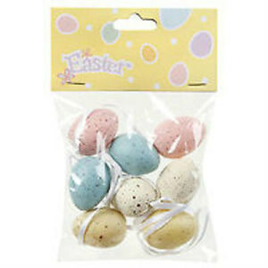 8 Assorted Colored Speckled EASTER EGGS Decoration ORNAMENTS Spring 1.25""
