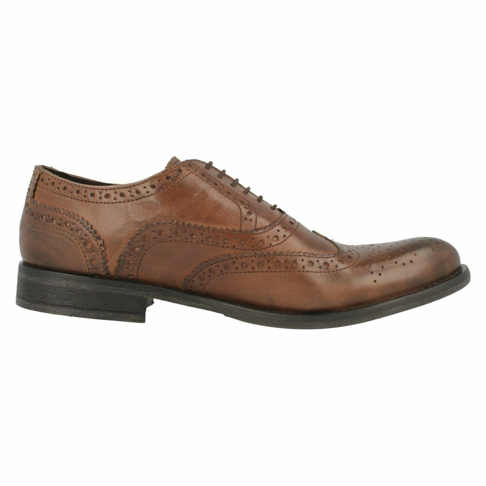 SALE Base London Walnut Gents Marrón Leather Leather Leather Full Brogue Wingtip Oxford Zapatos 51a97d