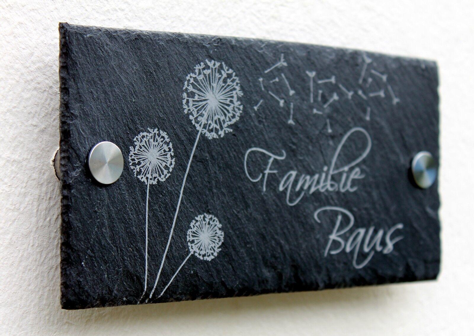 Cartel incl. grabado nombre escudo pizarras timbre 20x10-40x30 cm  0060