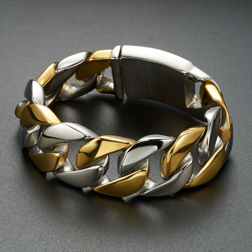 Top Quality Men/'s Stainless Steel Heavy Large Cuban Curb Chain Bracelet Link