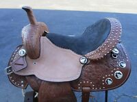 15 Barrel Racing Show Pistol Trail Pleasure Racer Leather Western Horse Saddle