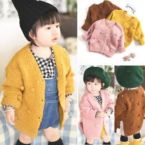 376319863115 Baby Kids Girl Winter Sweater Jacket Crochet Knit Tops Cardigan ...