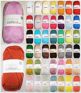 50g Creative Cotton Aran Baumwolle Wolle Häkelgarn Zum Stricken