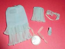 VINTAGE BARBIE LOVELY LINGERIE SLIP, BRA,PANTIES,GARTER PAK BLUE 60'S EXCELLENT