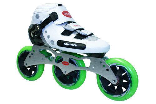 TruRev 3 wheel  Inline Speed Skate complete package. Size 4