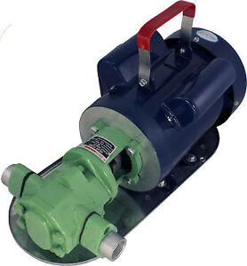 "Power WCB30 Mini-Gear Oil Pump 8 gpm 3/4"" WMO WVO Biodiesel Motor Fuel Transfer"