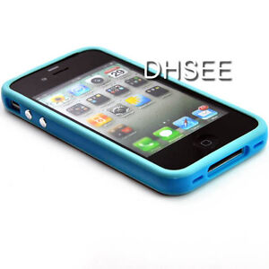Brand-New-Blue-Bumper-Case-For-Apple-iPhone-4-4G-UK