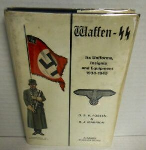 BOOK-ALMARK-Waffen-SS-by-Fosten-amp-Marrion-op-1972-1st-HB-with-dj-Ed-Scarce