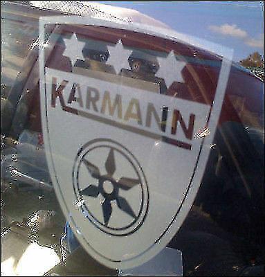 VW Karmann Ghia Sticker Autocollant Voiture Vinyle 150 mm x2 VOLKSWAGEN CLASSIC CAR