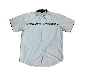 Rip Curl Mens Big And Tall Button Up Short Sleeves Shirt Size XL