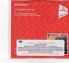 (FB481) Glossary, A Shoulder To Cry On - 2013 DJ CD