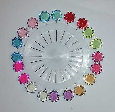 12x Round Pearl Snag Free Safety Craft Dressmaking Hijab Scarf Tailor Pins Wheel