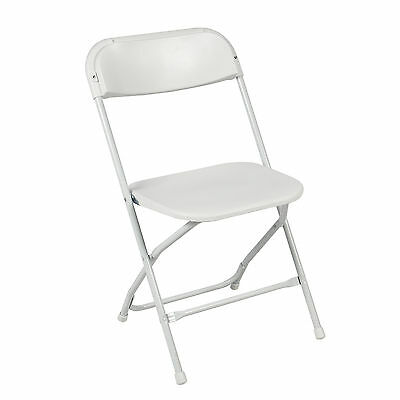 5-Pack Commercial White Plastic Folding Stackable Wedding Party Event Chair