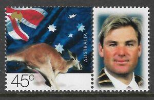 AUSTRALIA-2000-SHANE-WARNE-CRICKET-Australia-Post-Personalised-Stamp-London-MNH