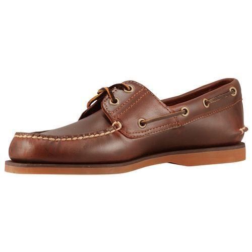 oficjalny sklep oficjalne zdjęcia najlepsza wartość Timberland Mens Boat Shoes Classic 2-eye Rootbeer Brown Leather 25077 12