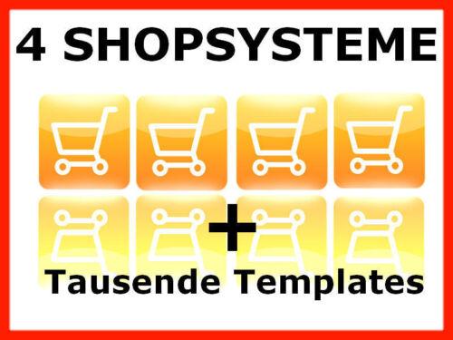 ✰ 4x Webshop Shopsystem Online Shop Onlineshop Shopsoftware Web Projekt E-LIZENZ