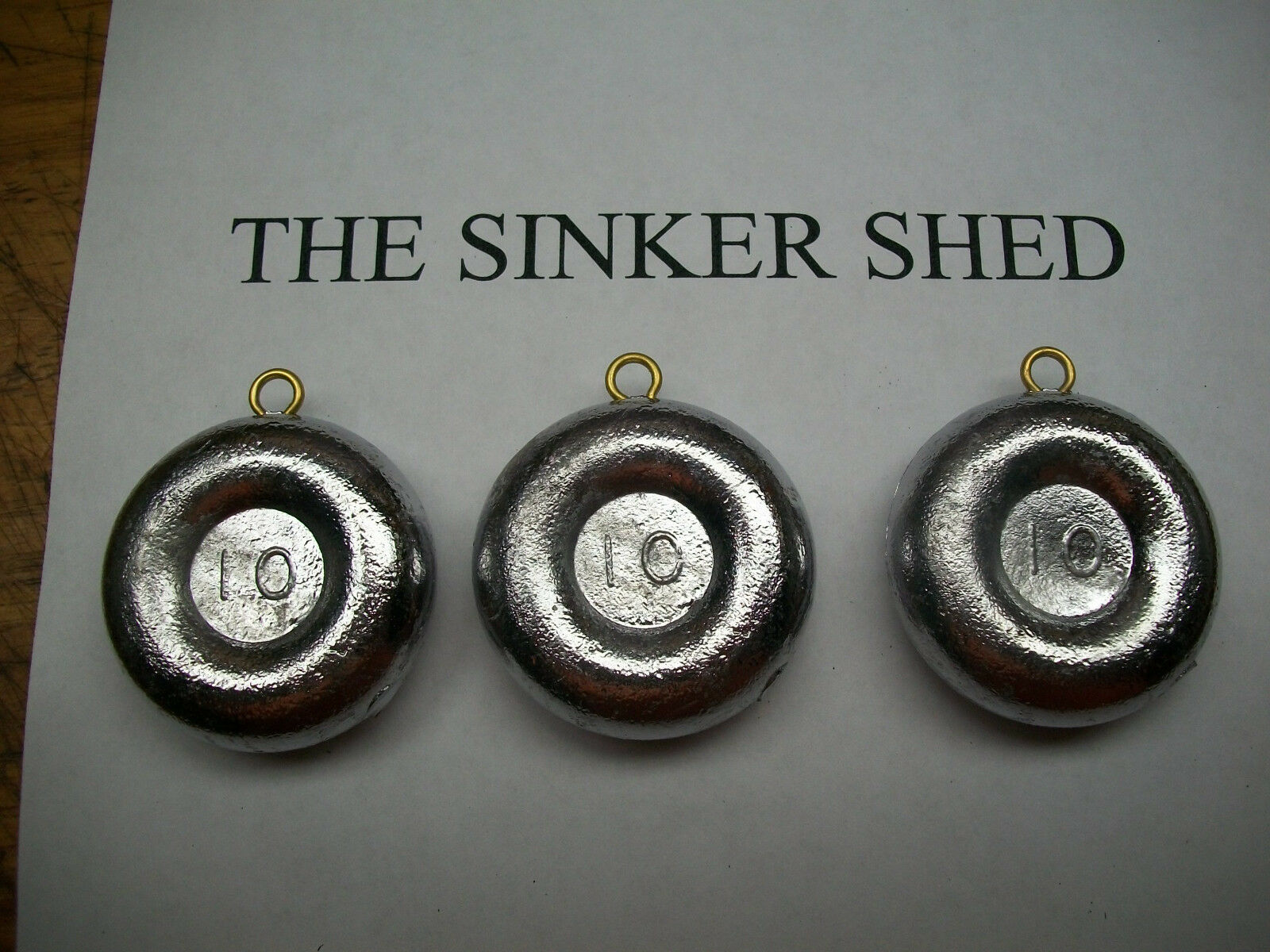10 oz river coin  sinkers   decoy weight - choice 6 12 25 50 100 -  FREE SHIPPING  at the lowest price