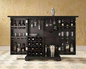 Expandable Wine Bar Liquor Cabinet Storage Modern Dining Room
