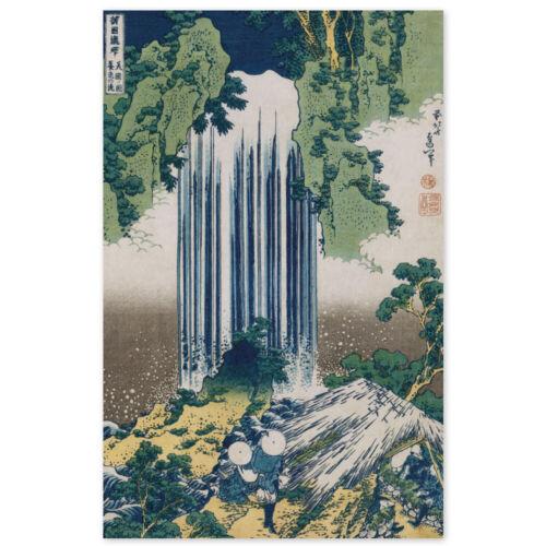 Poster Der Yoro Wasserfall in der Provinz Mino Katsushika Hokusai