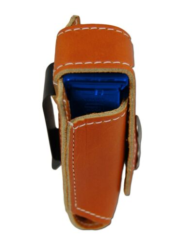 NEW Barsony Tan Leather Single Magazine Pouch for CZ EAA Compact 9mm 40 45