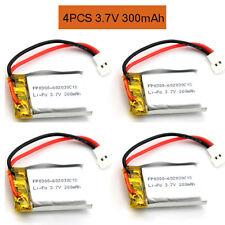 4x 3.7V 300mAh LiPo Li-Polymer Battery fr MP3 MP4 Model bluetooth headset 602030