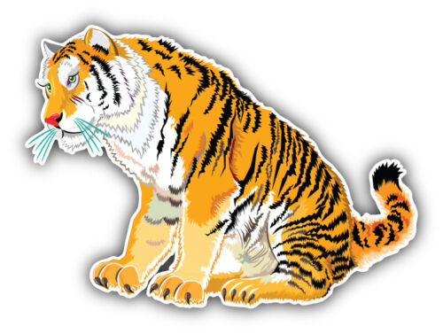 5/'/' or 6/'/' Tiger Animal Car Bumper Sticker Decal 3/'/'