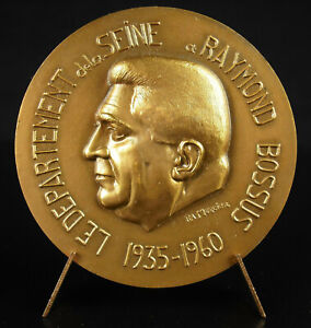 Medaglia-Raymond-Gobbi-Senatore-di-Parigi-1960-Comunista-Resistente-Fuggiasco