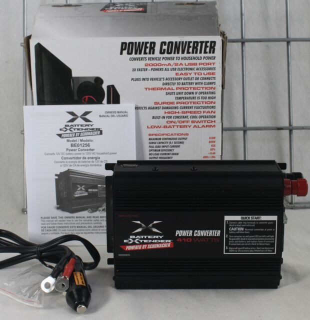 Schumacher Be01256 Battery Extender 12-volt 410-watt Power Converter ...