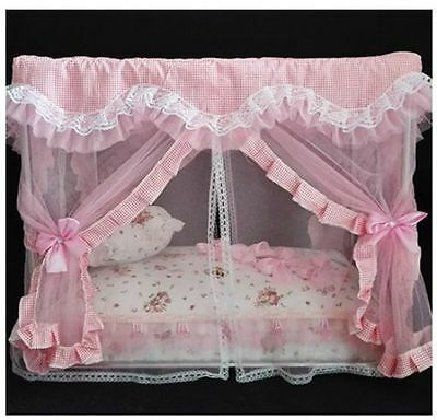 New Lace Princess Handmade Curtain Pet Dog Cat Bed House Sofa Frame Steel 6color & fancy dog beds collection on eBay!