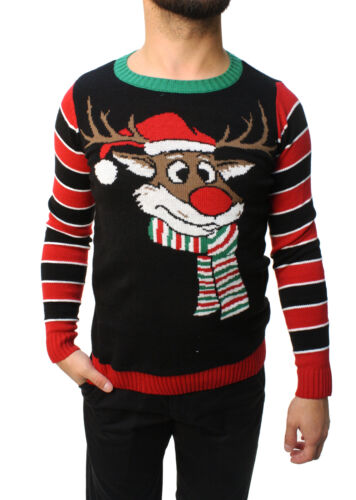 Ugly Christmas Sweater Teen Boy/'s Reindeer Surprise Scarf Pullover Sweatshirt