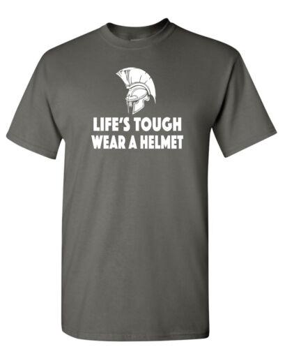 Life/'s Tough Wear A Helmet T-SHIRT Roman Centurion Greek Spartan