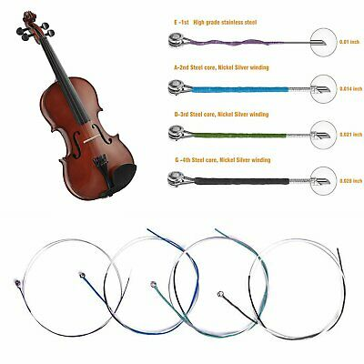 High Quality German Silver Violin Strings 1//4 1//2 3//4 4//4 £9.99 Limited Stock