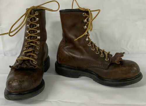Red Wing Leather Steel Toe Boots ANSI Z41 PT99 Sz
