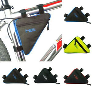 Waterproof Triangle Cycling Bike Bicycle Saddle Pouch Bag Frame Front Tube Bag