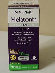 NATROL MELATONIN ADVANCED SLEEP FORMULATION 10mg 75 TABLETS EXP 07/2021