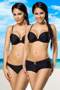 Sexy-Damen-Push-UP-Bikini-Badeanzug-M-Bademode-Schwarz-Strand-Damenmode-NEU