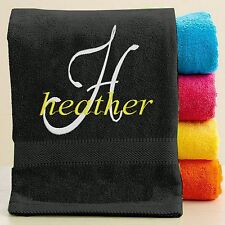Personalized Towel with FREE Custom Embroidery ~ Name Theme ~ Embroidered Towel