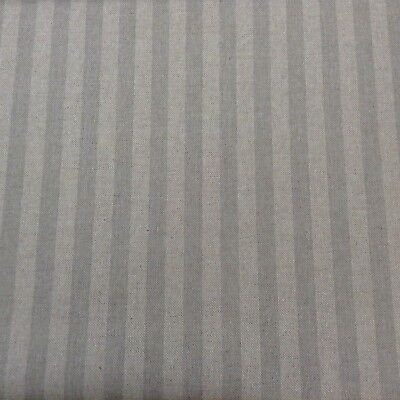 "Faded Linen Stripe Soft Pink 140cm//54/"" Curtain//Craft Fabric"