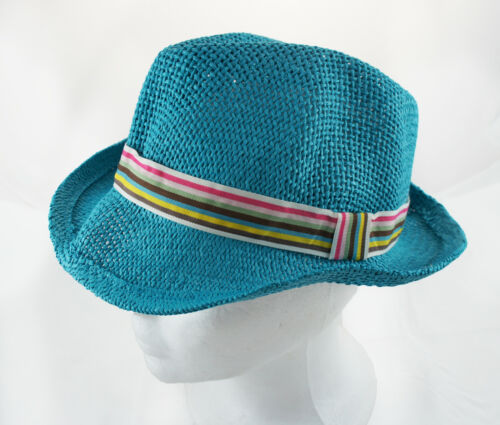 Adorable Boy//Girl Toddler Fashion Hipster Straw Fedora Hats Bright Colors OS US