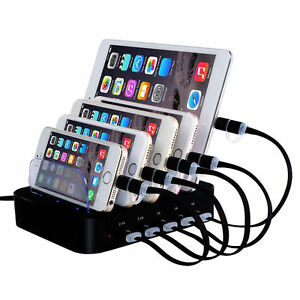 5 port multi usb ladestation ladeger t dock f r handy. Black Bedroom Furniture Sets. Home Design Ideas